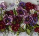 هنر در خانه,آموزش,گلسازی,آموزش گل بنفشه با روبان,روبان دوزی,shabnamha.ir,شبنم همدان,afkl ih