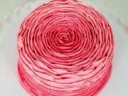 ایده جالب طراحی زیبای کیک به شکل یک گل رز...