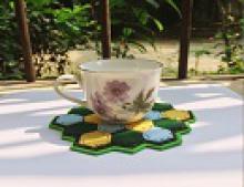 هنر در خانه,آموزش,زیر لیوانی نمدی,shabnamha.ir,شبنم همدان,afkl ih