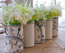 هنر در خانه,ساخت گلدان,مواد بازیافتی,ساخت گلدان با قوطی,shabnamha.ir,شبنم همدان,afkl ih,شبنم ها